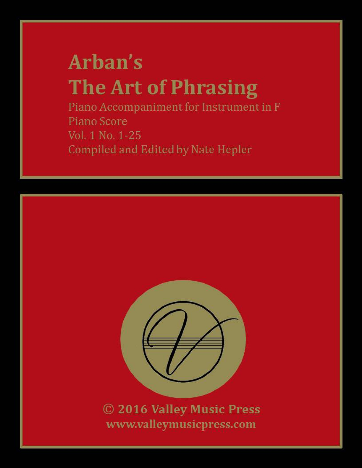 Arban Art of Phrasing Piano Accompaniment Vol. 1 No. 1-25 (Hrn)