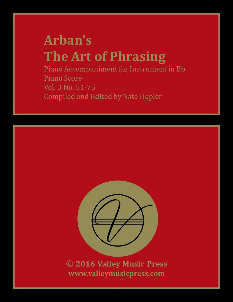 Arban Art of Phrasing Piano Accompaniment Vol. 3 No. 51-75 (Trp)
