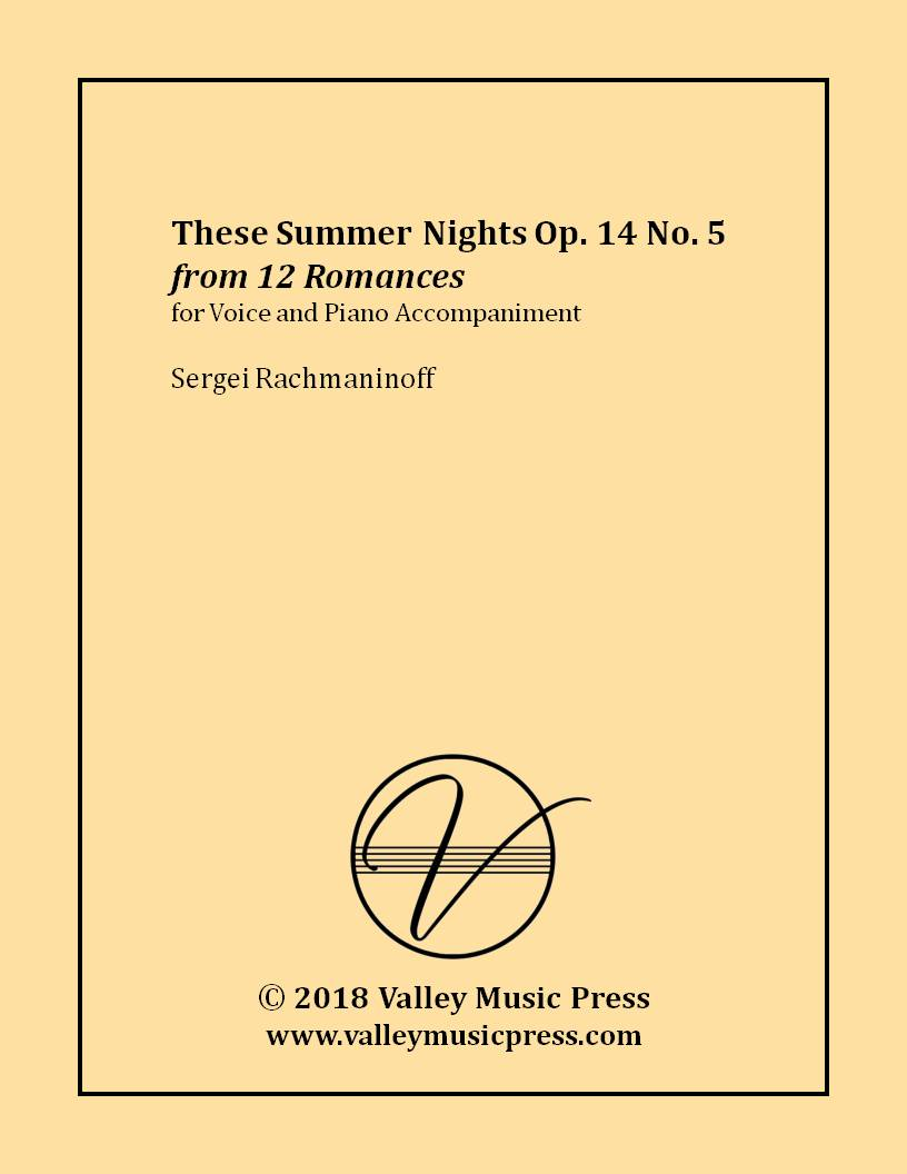 Rachmaninoff - These Summer Nights Op. 14 No. 5 (Voice)