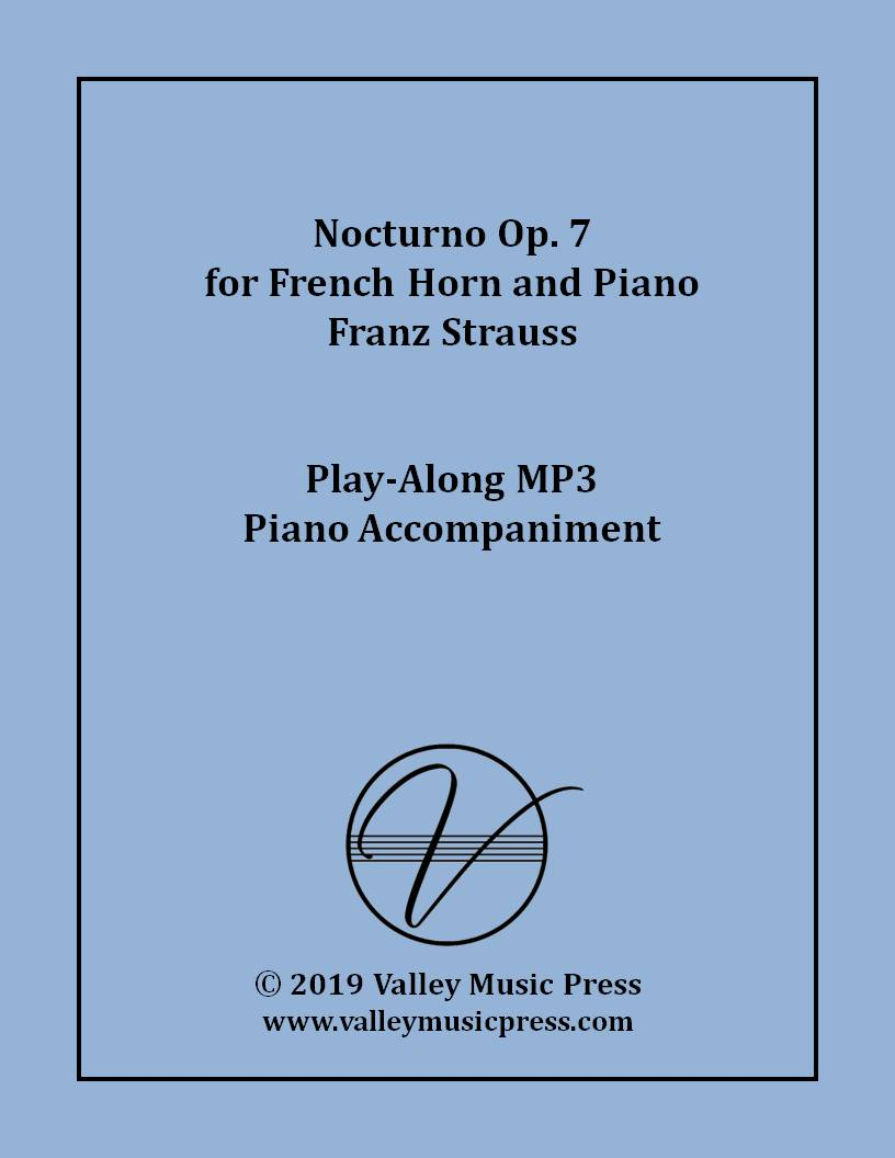 Strauss - Nocturno Op. 7 (MP3 Piano Accompaniment)