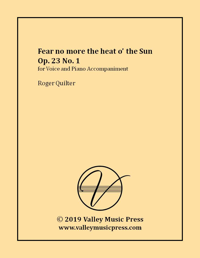 Quilter - Fear no more the heat o' the Sun (Voice)